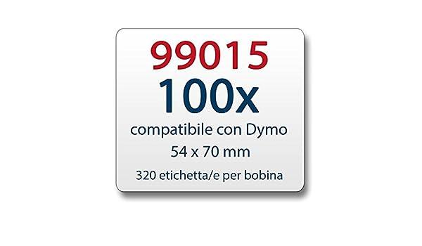 1x Label kompat zu Dymo 99015 54x70mm 320 Label Etiketten pro Rolle