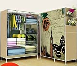 jk Fancy and Portable Foldable Closet Wardrobe Cabinet Portable Multipurpose Clothes Closet Portable