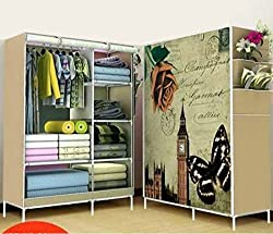 Dreamwold Wardrobe Organizer, Storage Rack for Kids and Women, Clothes Cabinet, Bedroom Organizer Colour & Pattern as Image