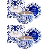 La Jolie Muse Citronella Candles Travel Tin Pack of 2