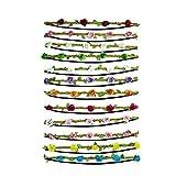 YAOJIN 12 unidades corona de flores multicolor flores bohemia Style tocado cinta de pelo Floral guirnalda para festival boda y fiesta