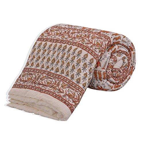 Salona Bichona 100% Cotton Jaipuri Single Quilt (Razai)