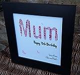 Personalisierte Geburtstagskarte mit Wörtern Art Rahmen Geschenk für Mütter, für Mutter, Großmutter, Granny Fenster, Oma, ETC 30th 40th 50th 60th 70th.