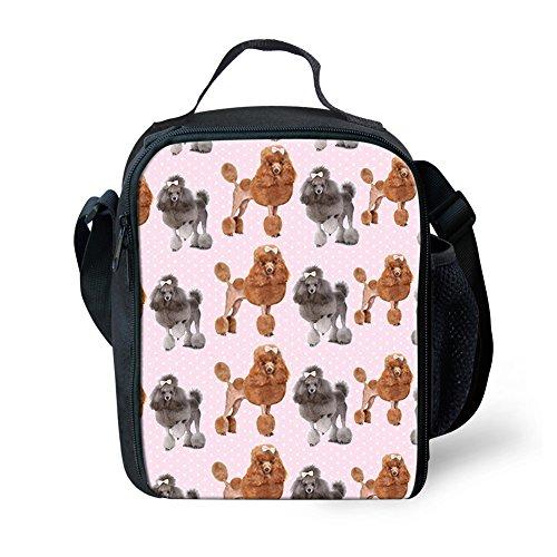 Nopersonality Lunchtasche für Erwachsene, Kinder, isoliert, modisch, mit Tiermotiv bedruckt Tote Größe S Puppy2