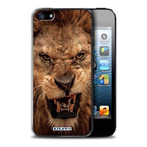 Stuff4 Hülle / Case für Apple iPhone SE / Faultier Muster / Wilde Tiere Kollektion Löwe