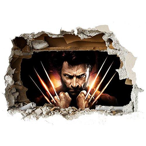 X-Men Wolverine Wand zerschlagen späht Kinder-Lieblings-Charaktere 70cm oder 100cm Wandtattoo, Vinyl, Motiv: Wandkunst, Customise4UTM (wolverine smash) (Wolverine Wandtattoo)