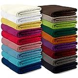 npluseins Packs zum Sparpreis - solide Frottiertücher - erhältlich in 18 modernen Farben und 8 verschiedenen Größen, 2er Pack Saunatücher (80 x 200 cm), grau
