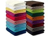 Packs zum Sparpreis - solide Frottiertücher - erhältlich in 18 modernen Farben und 8 verschiedenen Größen, 10er Pack Waschhandschuhe (15 x 21 cm), sand