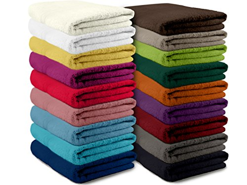 Packs zum Sparpreis - solide Frottiertücher - erhältlich in 16 modernen Farben und 8 verschiedenen Größen, 6er Pack Gästetücher (30 x 50 cm), apfelgrün