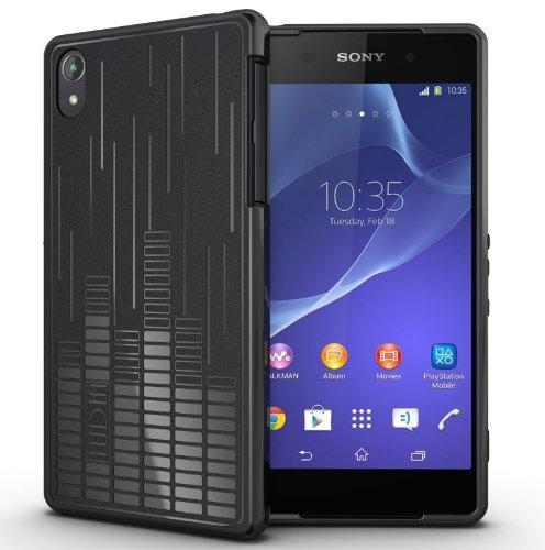 TUDIA Clef TPU Schutzhülle Sony Xperia Z2 Ultra Slim Hülle (keine Aussparungen für MicroSD, Sim-Karte, magnetischer Lade- / Dockanschluss) (schwarz) Ultra Slim Microsd