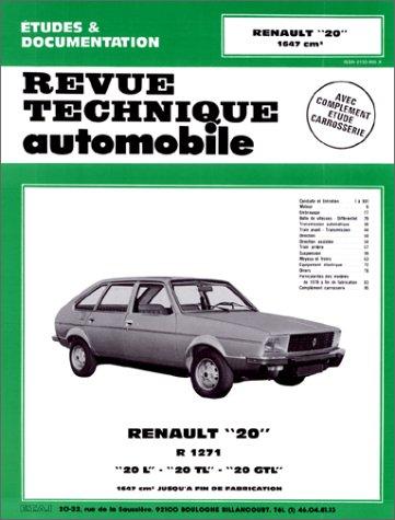 Renault 20 L - TL et GTL (1976/1982) (Revue technique automobile)