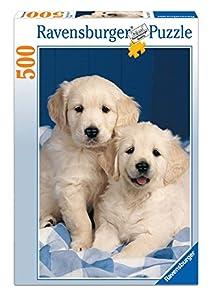 Ravensburger - Cachorros de Golden Retriever, puzzle de 500 piezas (14238 5)
