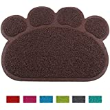 24x7 eMall Multi-Purpose Pet Mat for Dogs and Cats ~ Feeding, Sitting, Scratching, House Breaking, Sleeping Placemat (Small 14 x 12 Inches, Brown)