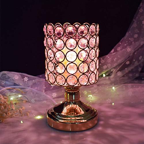 Ddgdg Verdunkelung der Aromatherapie-Lampe, kreativer Plug-in-Schönheitssalon-Brenner-Schlafzimmer-Nachtlicht-Verein-Aromatherapie-Ofen des ätherischen Öls,Rosa -