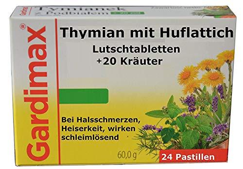 Kräuter-extrakt Plus (Gegen Viren, Bakterien, Thymian, Huflattich plus 20 Kräuter Extrakte, schleimlösend, antibakteriell, 24 Lutschtabl, bei Erkältung, Halsschmerzen, halstabletten, tabletten, halsspray, rachenspray)