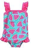 Attraco Baby Schwimmanzug Mädchen Einteiler Baby Badeanzug Rosa Badebekleidung Baby Wassermelone 18-24 Monate