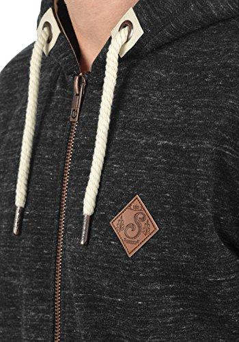 SOLID Craig Herren Kapuzenpullover Hoodie Sweatshirt aus hochwertiger Baumwollmischung Meliert, Größe:M, Farbe:Black (9000) - 4