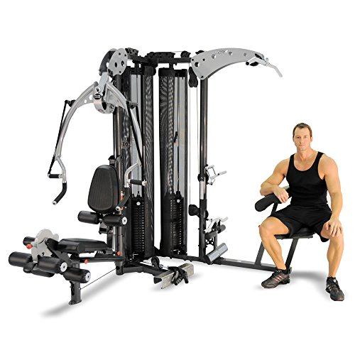 51DXD9JJkVL. SS500  - Inspire Fitness M5 Multi Gym - Fitness, Workout, Strengthen Muscle, Gym, Home, Aluminium, Revolving Lat Bar, L Shape Design, Commercial Use, Isolation Movements, Heavy Duty Tubular Steel Frame, Maintenance Free, Abdominal Bar