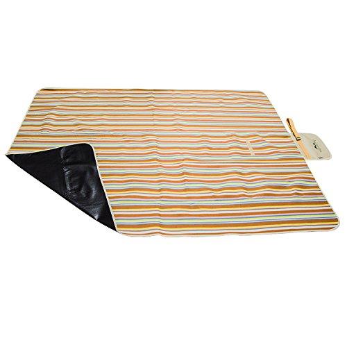 Supertrip Picknickdecke XXL faltbar waschbar wasserdicht Fleece Campingdecke Strandmatten Picknick Matte Strandunterlage decke isoliert stranddecke mit Schultergurt Outdoor Picknick-decke
