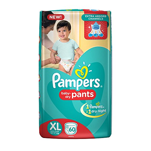 Pampers Extra Large Size Diapers Pants (60 Count)
