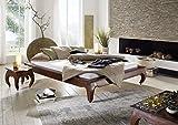 MASSIVMOEBEL24.DE Akazie Möbel Massivholz Bett 160x200 Nougat Holz Massivmöbel Opium #263