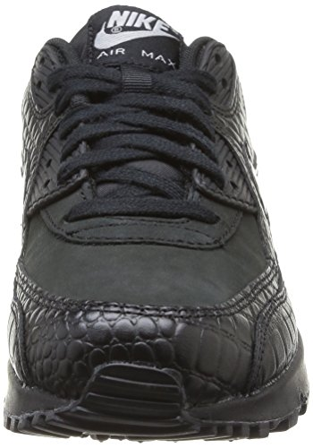 Nike Air Max 90, Chaussures de running femme Multicolore (Black/Black Mtllc Silver)