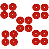 AERZETIX: 20 x Catadioptrico adhesivo redondo rojo 61mm para coche motocicleta bicicleta camión remolque