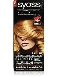 Syoss Haarfarbe, 8-7 Honigblond, 3er Pack (3 x 115 ml)