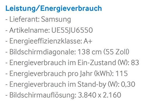 Samsung UE55JU6550 138 cm (55 Zoll) Curved Fernseher (Ultra HD, Triple Tuner, Smart TV) - 3