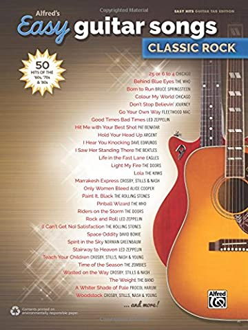 Alfred's Easy Guitar Songs -- Classic Rock: 50 Hits of