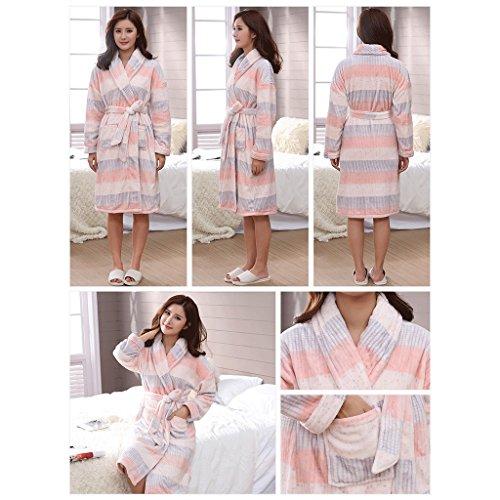 ZLR Autumn Winter Season Lady Accappatoio Ispessimento Plus Sezione lunga Cute Home Clothes Sleep Robe ( Colore : D-L ) D-xxxl
