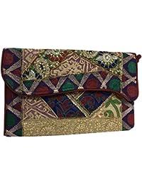 Shubhangi Women's Sling Bag (Jaipuri Embroidered Handicraft Traditional Bags,Stylish Weddings Bags,Multi-Coloured...