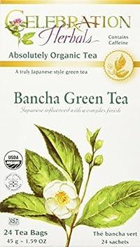 Celebration Herbals Organic Bancha Green Tea -- 24 Tea Bags