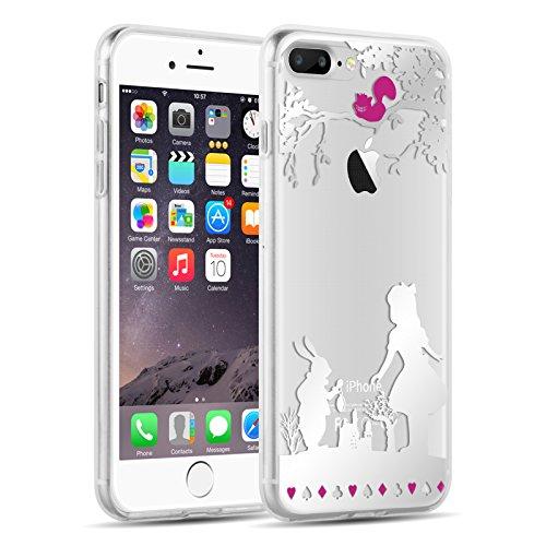 iPhone 8, iPhone 7 Hülle | JAMMYLIZARD Transparente Schutzhülle Sketch Back Cover Case aus Silikon, Mario Brüder ALICE