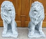 Löwe Dekofigur Höhe 50 cm 2 Stück Set