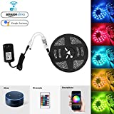 Bawoo Wifi tira LED luz, impermeable 5 M RGB Cinta luminosa 150LEDs SMD 5050 LED Banda Barra de luz...