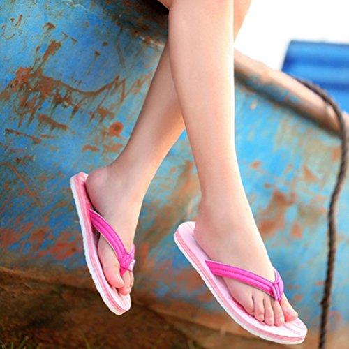 Baymate Donna Comfort Infradito Spiaggia Vacanza Pantofole Sandali Rosso