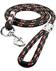 Vrct Red Nylon Rope Leash for Large Breed Dog (18mm, Black)