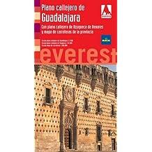 Plano callejero de Guadalajara. Con plano callejero de Azuqueca de Henares y mapa de carreteras de la provincia (Planos callejeros / serie roja)