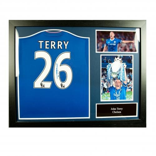 a4318f2a132 Chelsea F.C. Terry Signed Shirt (Framed) Official Merchandise ...
