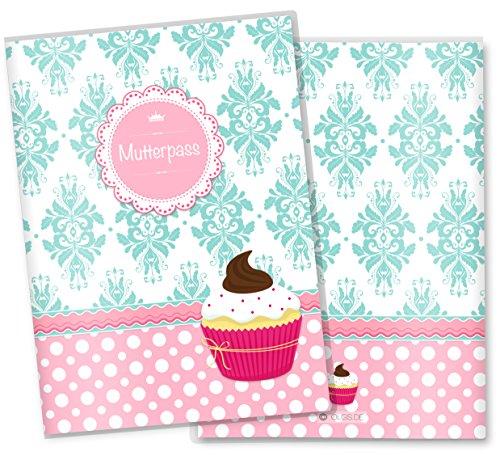 Mutterpasshülle 3-teilig Cupcakes Motive (Mutterpass ohne Personalisierung, Motiv: Fancy)