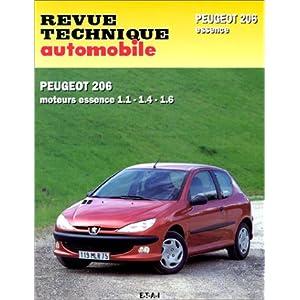 Revue Technique Automobile : La Peugeot 206 essence 1,1 – 1,4 – 1,6