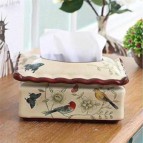 YUENLONG Villaggio americano bird creative carta ceramica box ornamenti home sala decorata in Ceramica Vassoio di aspirazione