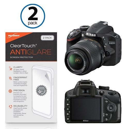 Boxwave Cleartouch Screen Protector (BoxWave ClearTouch AntiGlare Displayschutzfolie für Nikon D3200(2er Pack)-Nikon D3200, blendfrei, Anti-Fingerprint Matt Folie Haut, vor Kratzern zu schützen)