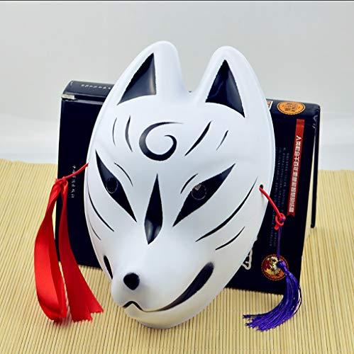 Maske Maske Katzengesicht im japanischen Stil und Windmasken Maskenvielfalt der optionalen Fuchsmaske Gewicht 35g Plastikmaske Gesichtsmaske (Farbe : F)
