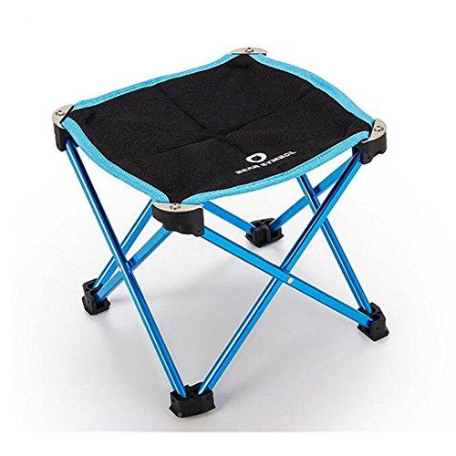 Femmes/enfants Mini ultraléger Camping pliante Tabouret Siège de camping avec sac de transport 22,9 x 22,9 x 20,3 cm/25,4 x 25,4 x 27,9 cm, bleu