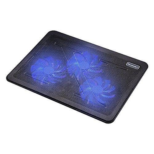 Tenswall 15-17 Zoll Laptop Kühler Notebook Cooler Ständer Kühlpad Kühlmatte mit 2 USB-Ports 3 Lüfter