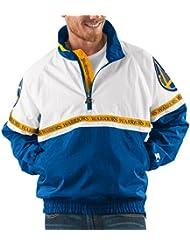 "Golden State Warriors NBA Starter ""Academy"" 1/2 Zip Pullover Embroidered Jacket Veste"