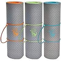 Tapis de yoga / Tapis de gymnastique / 183x61x1cm / Matériau TPE biodégradable écologique / extra épais: 10 mm / Garantie 3 ans / non toxique et antidérapant / BONUS: Sangle + eBook + affiche