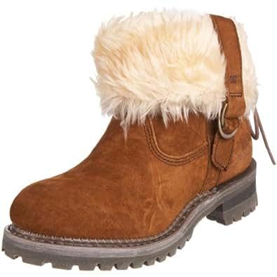 CAT Footwear Women's Keegan Hash Brown Fur Trimmed Boot P304409 4 UK